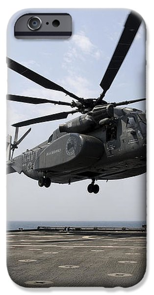 An Mh-53e Sea Dragon Prepares To Land iPhone Case by Stocktrek Images