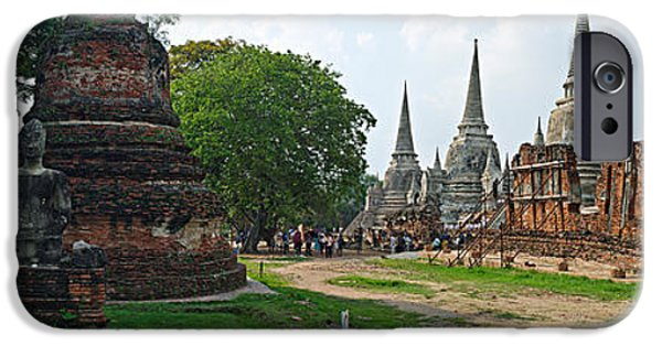 Buddhist iPhone Cases - Ancient Ruins Of A Temple, Wat Phra Si iPhone Case by Panoramic Images