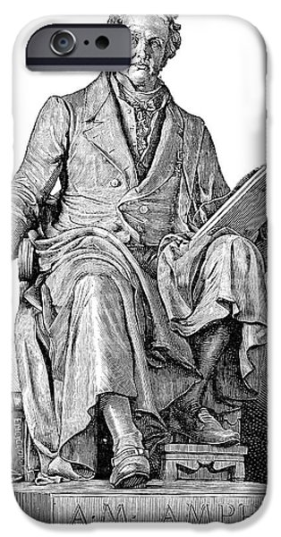 Statue Portrait iPhone Cases - Andre-marie Ampere, French Physicist iPhone Case by Spl