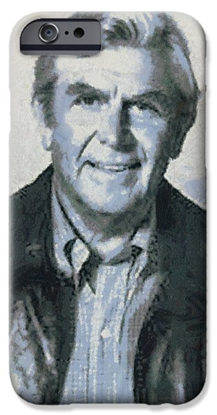 Andy Griffith iPhone Cases - Andy Griffith iPhone Case by Paulette B Wright