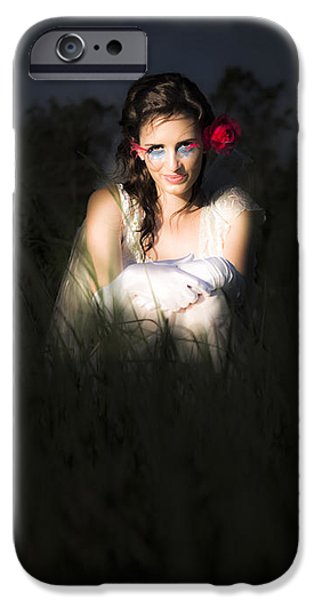 Night Angel iPhone Cases - Angel Sitting In The Darkness iPhone Case by Ryan Jorgensen