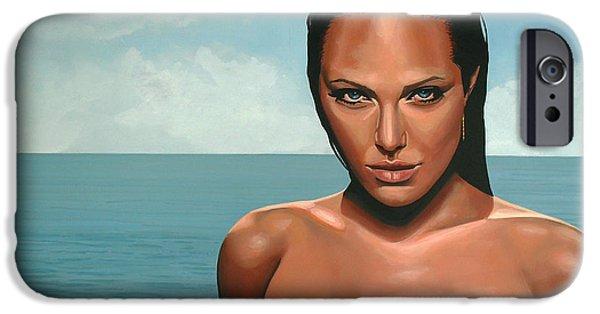 Tomb iPhone Cases - Angelina Jolie iPhone Case by Paul  Meijering
