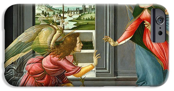 Gabriel iPhone Cases - Annunciation iPhone Case by Sandro Botticelli