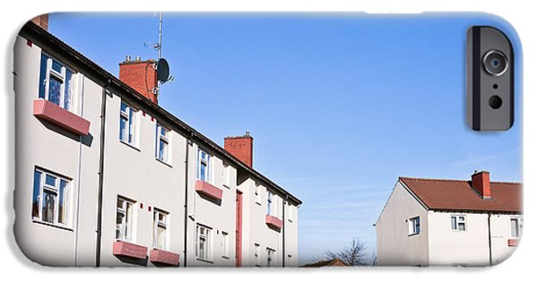 Apartment iPhone Cases - Apartment block iPhone Case by Tom Gowanlock