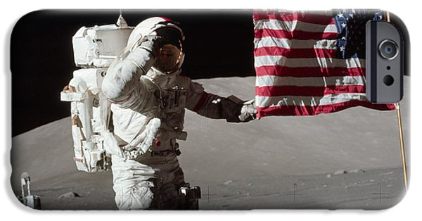 Stellar iPhone Cases - Apollo 17 Mission iPhone Case by Celestial Images