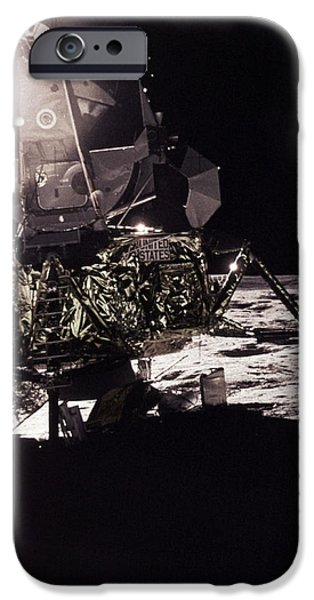 Apollo 17 Moon Landing iPhone Case by Science Source