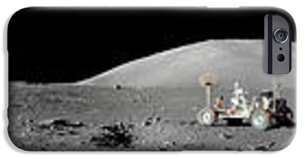 Abstract Digital iPhone Cases - Apollo 17 Station iPhone Case by Celestial Images