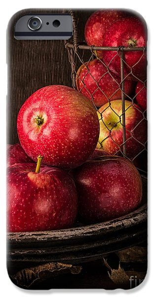 Basket iPhone Cases - Apple Still Life iPhone Case by Edward Fielding
