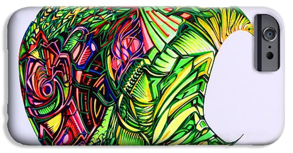 Abstract Digital Drawings iPhone Cases - Apple iPhone Case by The Door Project