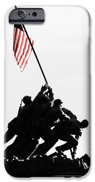 Old Glory iPhone Cases - Appreciation iPhone Case by Mitch Cat
