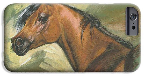 Maine iPhone Cases - Arabian Horse iPhone Case by Zorina Baldescu