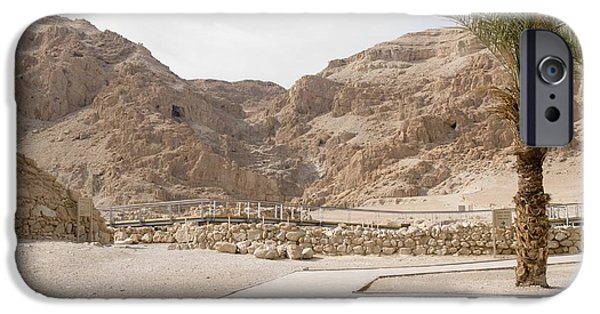 Ancient Scroll iPhone Cases - Archaelogical Site Of Qumran iPhone Case by PhotoStock-Israel