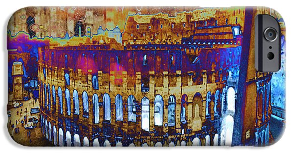 Buildings Mixed Media iPhone Cases - Architecture and Ruined landmarks of Europe Digital painting finished touches by NavinJoshi iPhone Case by Navin Joshi