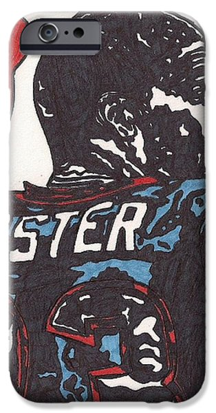 Arian Foster iPhone Case by Jeremiah Colley