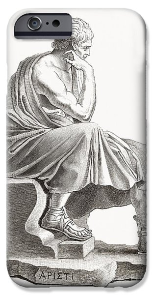 Statue Portrait iPhone Cases - Aristotle, Ancient Greek Philosopher iPhone Case by Middle Temple Library