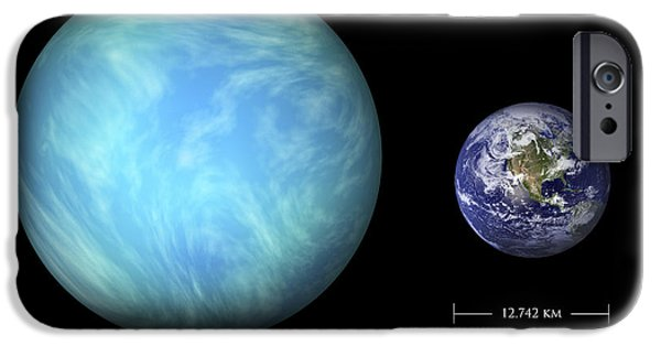 Terrestrial Sphere iPhone Cases - Artists Depiction Of The Difference iPhone Case by Marc Ward
