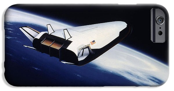 Spaceplane iPhone Cases - Artists Rendering Of The X-33 Reusable iPhone Case by Stocktrek Images