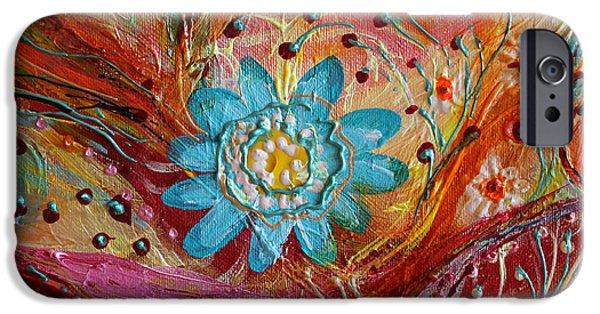 Flower Of Life iPhone Cases - Artwork Fragment 97 iPhone Case by Elena Kotliarker