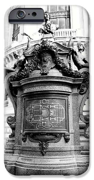 Ballet Of Colors iPhone Cases - Artwork Outside Of The Palais Garnier In Paris France iPhone Case by Richard Rosenshein