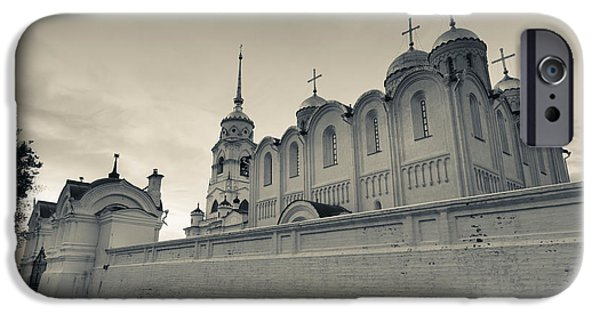 Russian Cross iPhone Cases - Assumption Cathedral In Vladimir iPhone Case by Panoramic Images