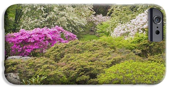 Japanese Garden iPhone Cases - Asticou Azelea Garden - Northeast Harbor - Mount Desert Island - Maine iPhone Case by Keith Webber Jr
