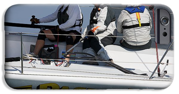 Sausalito iPhone Cases - At the Helm iPhone Case by Steven Lapkin