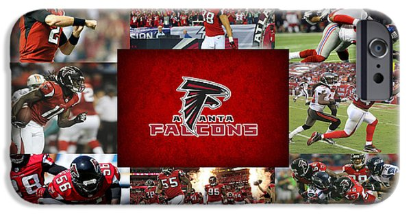 Falcon iPhone Cases - Atlanta Falcons iPhone Case by Joe Hamilton