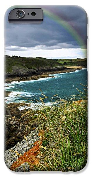 Atlantic coast in Brittany iPhone Case by Elena Elisseeva