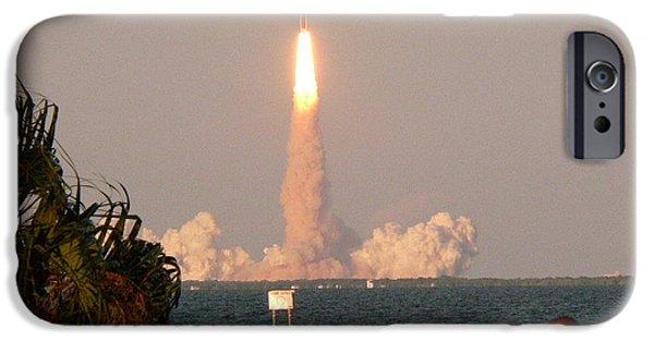 Atlantis iPhone Cases - Atlantis Shuttle Launch iPhone Case by David Bearden