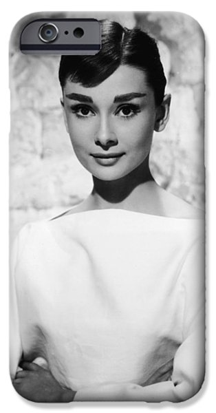 1950s Movies iPhone Cases - Audrey Hepburn iPhone Case by Nomad Art And  Design