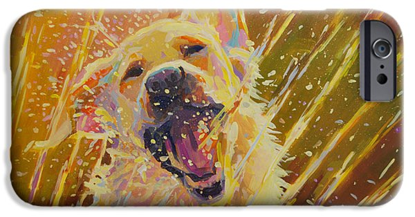 Dogs iPhone Cases - August iPhone Case by Kimberly Santini