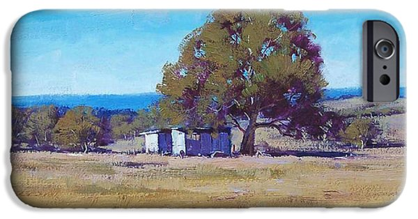 Rural iPhone Cases - Australian Summer Landscape iPhone Case by Graham Gercken