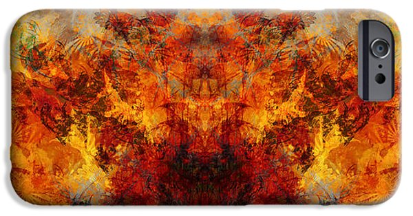 Business Paintings iPhone Cases - Autumn Glory iPhone Case by Christopher Gaston