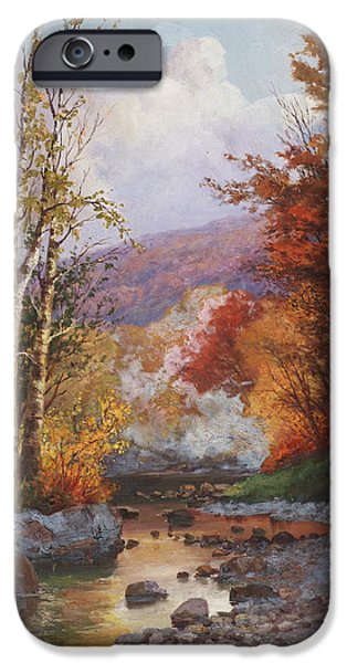 Rivers In The Fall iPhone Cases - Autumn in the Berkshires iPhone Case by Christian Jorgensen