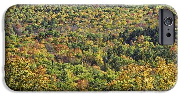 Maine Landscape iPhone Cases - Autumn Landscape Mount Blue State Park Weld Maine iPhone Case by Keith Webber Jr