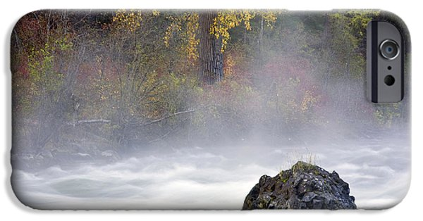 Mist iPhone Cases - Autumn Mist iPhone Case by Mike  Dawson
