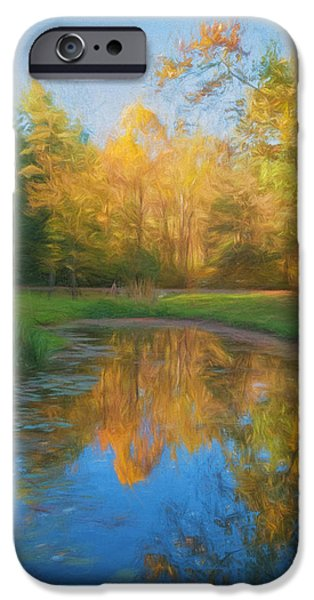 Reflections Of Nature iPhone Cases - Autumn Splendor iPhone Case by Kim Hojnacki