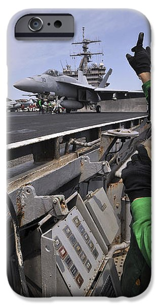Aviation Boatswain's Mate Signals iPhone Case by Stocktrek Images