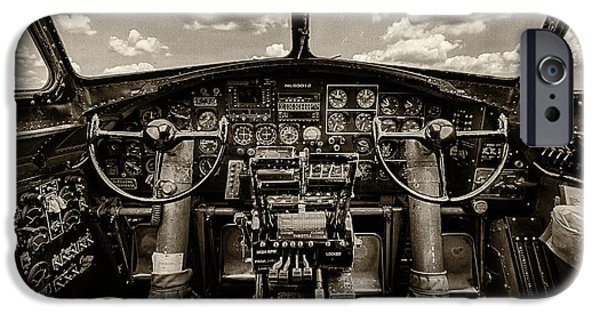P-51 Mustang iPhone Cases - Cockpit of a B-17 iPhone Case by Mike Burgquist