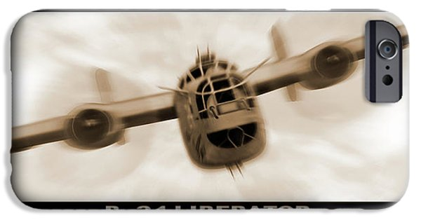 Warbird iPhone Cases - B 24 Liberator iPhone Case by Mike McGlothlen