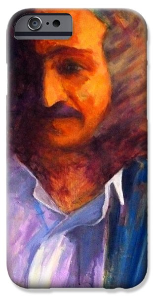 Baba Paintings iPhone Cases - Baba at Window iPhone Case by Joe DiSabatino