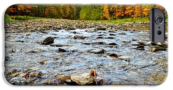 Oak Creek iPhone Cases - Babbling Brook iPhone Case by Frozen in Time Fine Art Photography
