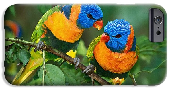 Bird iPhone Cases - Baby Birds  iPhone Case by Marvin Blaine