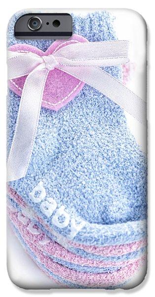 Baby socks iPhone Case by Elena Elisseeva