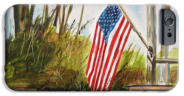 Old Glory Drawings iPhone Cases - Back Porch iPhone Case by John  Williams