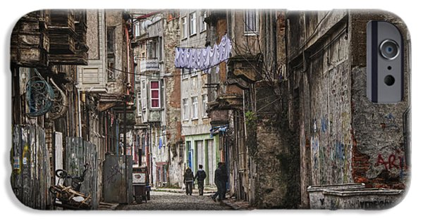 Buildings iPhone Cases - Back Street iPhone Case by Joan Carroll