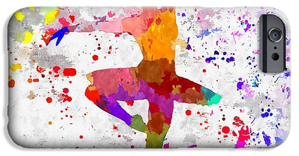Ballet Of Colors iPhone Cases - Ballerina iPhone Case by Daniel Janda