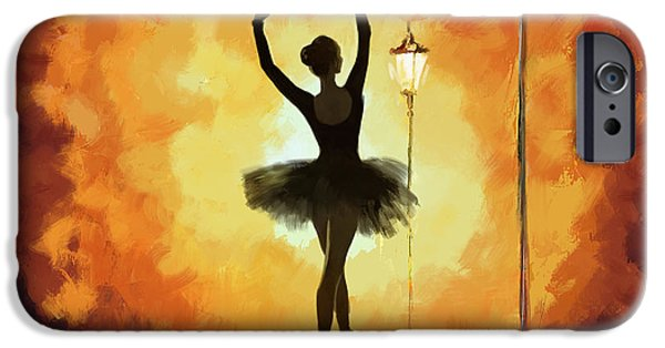 Leonid iPhone Cases - Ballet Dancer iPhone Case by Corporate Art Task Force