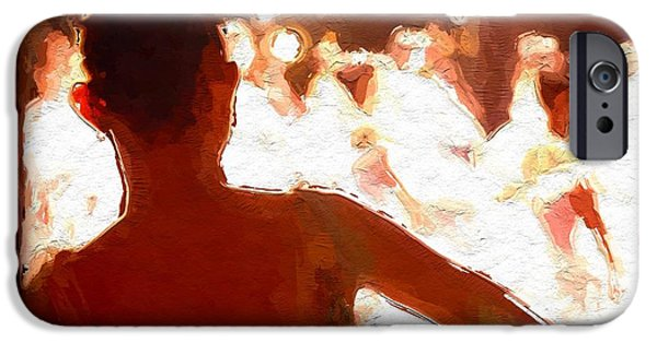 Ballet Dancers Mixed Media iPhone Cases - Ballet iPhone Case by Stefan Kuhn