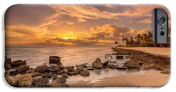 Banzai iPhone Cases - Barbers point light house sunset iPhone Case by Tin Lung Chao
